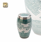 Returning Home Doves Brass Keepsake Cremation Urn
