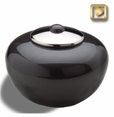 Round Simplicity Midnight Cremation Urn