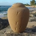 Sand Biodegradable Ocean Footprints in the Sand Cremation Urn