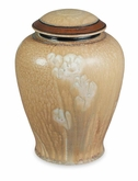 Sand Flower Hand-Thrown Porcelain Vase Cremation Urn