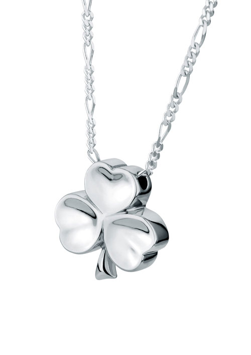 Shamrock sterling silver cremation jewelry pendant necklace for ashes aloadofball Gallery