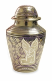 Silver Angel Brass Keepsake Cremation Urn with Heart Box