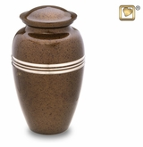 Speckled Auburn Brass Cremation Urn