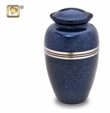 Speckled Indigo Brass Cremation Urn