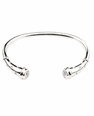 Sprinkle Flute Cuff Polished Sterling Silver Cremation Bracelet