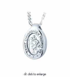 St christopher sterling silver cremation jewelry pendant necklace aloadofball Gallery