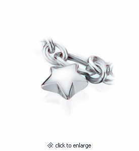 Star Charm Sterling Silver Cremation Jewelry