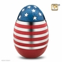 Stars and Stripes Brass Cremation Urn