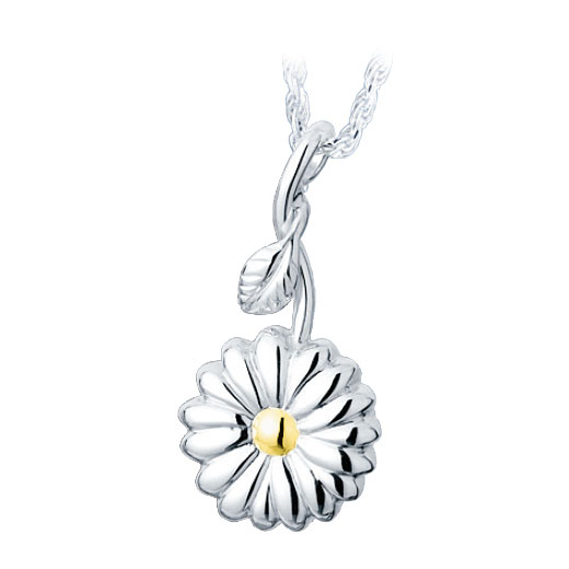 Sunflower sterling with gold cremation jewelry pendant necklace aloadofball Image collections