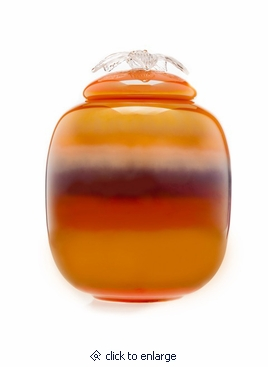 Sunset Flores Collection Hand Blown Glass Cremation Urn