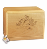 Swan Classic Maple Wood Cremation Urn