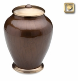 Tall Simplicity Bronze Finish Brass Cremation Urn