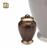 Tall Simplicity Bronze Finish Brass Keepsake Cremation Urn
