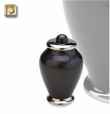 Tall Simplicity Midnight Brass Keepsake Cremation Urn