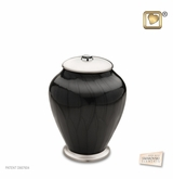 Tall Simplicity Midnight Pearl Brass Medium Cremation Urn