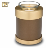 Tealight Candle Auburn Keepsake Cremation Urn