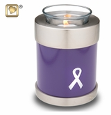 Tealight Candle Awareness Purple Brass Keepsake Cremation Urn