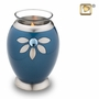 Tealight Candle Nirvana Azure Brass Keepsake Cremation Urn