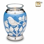 Tealight Candle Silver Blessing Birds Brass Keepsake Cremation Urn