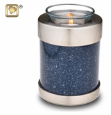 Tealight Candle Speckled Indigo Keepsake Cremation Urn