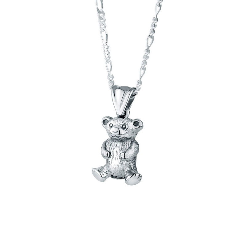 Teddy bear sterling cremation jewelry pendant necklace for ashes aloadofball Images