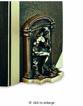 Thinker Cast Bronze Bookends