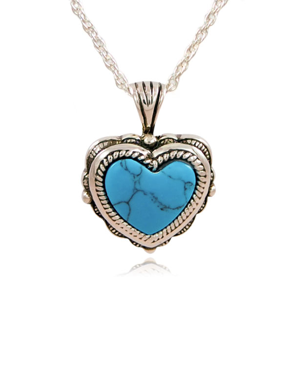 Turquoise heart sterling silver cremation jewelry pendant necklace aloadofball Choice Image