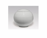 White Gloss Sfera Porcelain Keepsake Cremation Urn