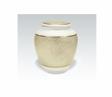 White With Gold Classica Porcelain Keepsake Cremation Urn