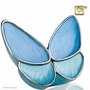 Wings of Hope Blue Butterfly Brass Cremation Urn