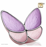 Wings of Hope Lavender Butterfly Brass Cremation Urn