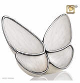 Wings of Hope Pearl Butterfly Brass Cremation Urn