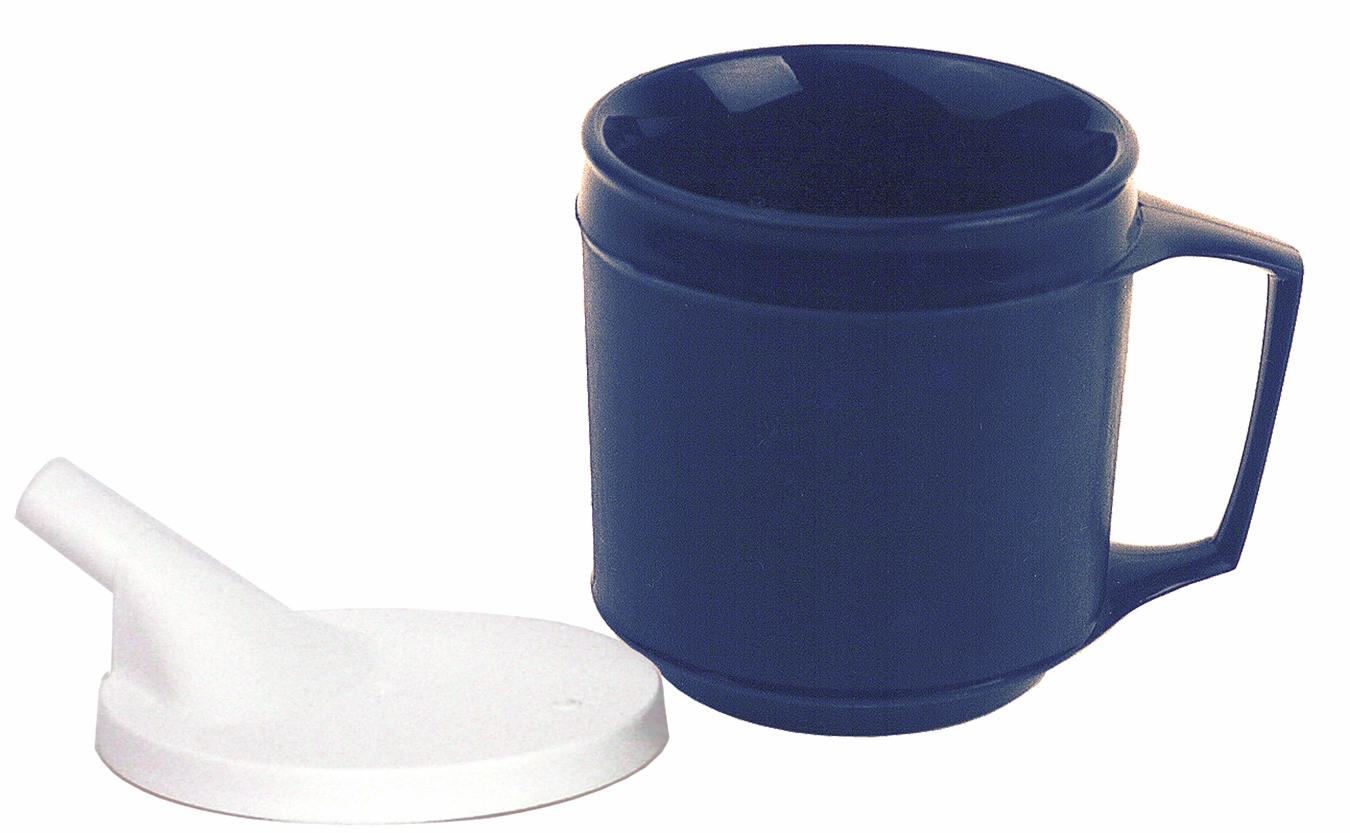 Cup With Lid : Insulated cup with spout lid easy to sip