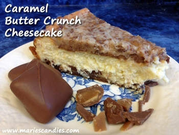 Caramel Butter Crunch Cheesecake