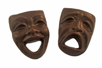 Drama Masks - 3 oz.