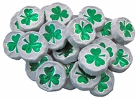 Milk Chocolate Foil Shamrocks - 1/2 lb.