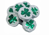 Milk Chocolate Foil Shamrocks Mesh Bag - 2 oz.