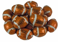 Milk Chocolate Foil Footballs - 1/2 lb.