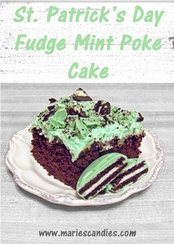 Fudge Mint Poke Cake