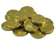 Milk Chocolate Gold Coins - 1/2 lb.