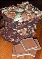 Mint Meltaway Brownies