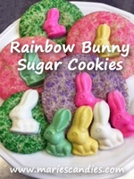 Rainbow Bunny Sugar Cookies