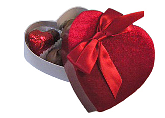 Red Velvet Heart Box - 2 oz.