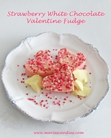 Strawberry White Chocolate Fudge