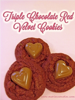 Triple Chocolate Red Velvet Cookies