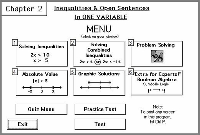 Chapter 2:<br>Inequalities & Open Sentences in One Variable
