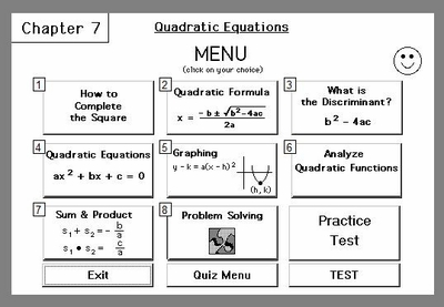 Chapter 7:<br>Quadratic Equations