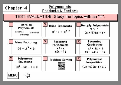 Chapter TEST Evaluation