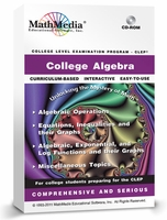 CLEP College Algebra<br>Learn College Algebra Software