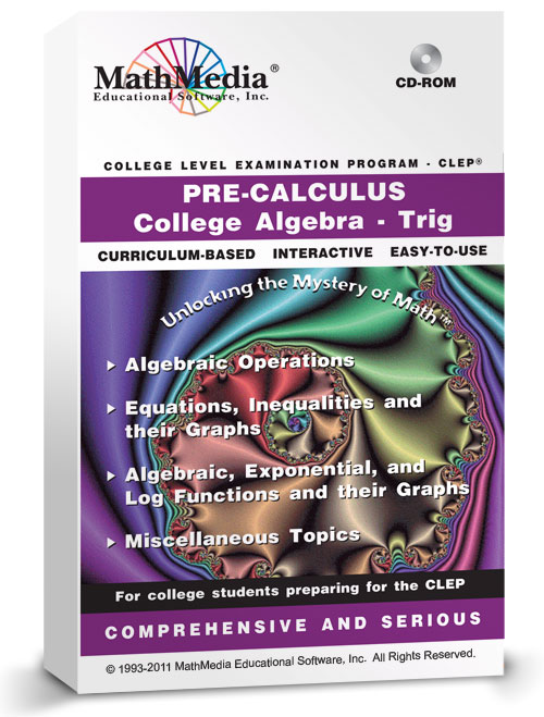 CLEP - Precalculus<br>Includes Trig and College Algebra CLEP
